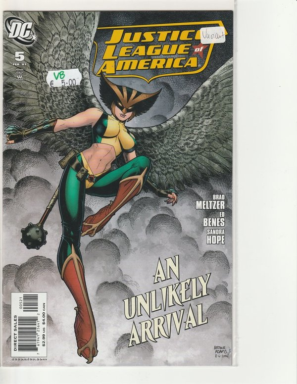 Justice League of America 005 (Adams Incentive Variant B)